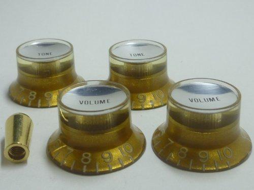 gemacht-in-japanhigh-quality-vintage-relic-reflector-knobembossedgoldinchsilver-platetone-volume