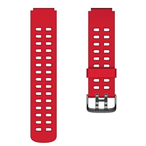 YAMAY Ersatz Armband für SW020 Smartwatch (Rot)