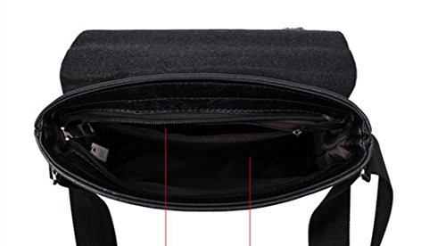 Messenger Bag I Viaggi D'affari Borsa A Tracolla Uomo Borsa A Tracolla Della Borsa Uomini Black4