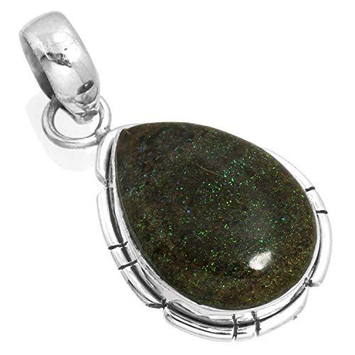 Jeweloporium Natürliche Honduras Schwarz Matrix Opal Edelstein Neueste Schmuck Solide 925 Sterling Silber Anhänger (Honduras Silber Schmuck)