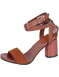 ZHRUI Botas de Mujer Rebajas de Verano para Mujer Zapatillas con Correa de Tobillo para Mujer