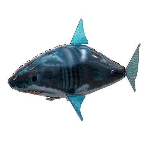 TOYMYTOY Juguete Inflable del Tiburón del Vuelo Teledirigido Eléctrico Reglo ideal para los Niños (Azul)