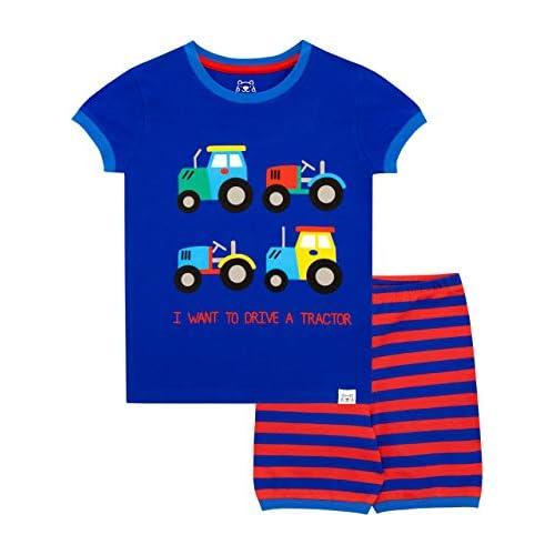 Harry Bear Pijama Corta para niños Tractores 4