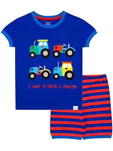 Harry Bear Pijama Corta niños Tractores Azul 2-3
