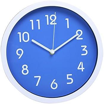 Blue Wall Kitchen Clock