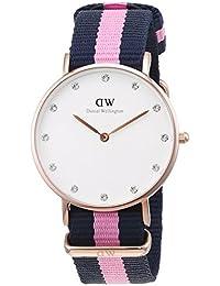Daniel Wellington Damen-Armbanduhr Classy Winchester Analog Quarz Nylon DW00100077