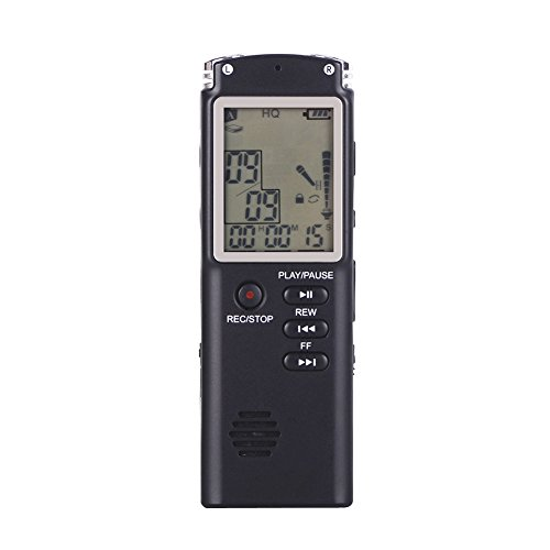 Digital Voice Recorder, 8 GB 280hours Sound Audio Diktiergerät Stereo Mini MP3 Musik Player/Diktiergerät für Aufnahmen, Interviews, Gespräch und Vorträge B B