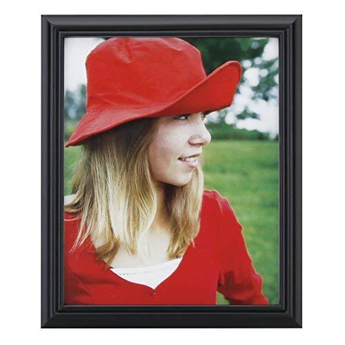 Edge 8x10 Foto (10,2x 15,2cm Bilderrahmen aus massivem Holz Und High Definition Glas für Tisch klappbar und Wandmontage Bilderrahmen, holz, Black-Line Edge, 8x10 Inch)