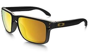 Oakley Herren Herren Holbrook Wayfarer Sonnenbrille, Polished Black/24K Gold Iridium (S3)