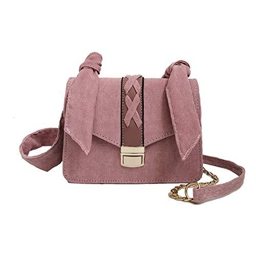(KERVINFENDRIYUN YY4 Womens Cord Umhängetasche, Umhängetaschen, Ribbon Dekoration (Color : Pink))