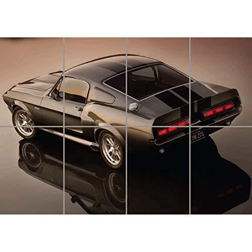 ELEANOR 1967 FORD MUSTANG SHELBY GT500 GIANT POSTER PLAKAT DRUCK ART PRINT B1240 -