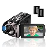 Camcorder Kenuo Full HD Videokamera 1080P 24MP 30PFS Digitalkamera für YouTube 16X Digitalzoom 3.0 '' LCD 270 Grad...