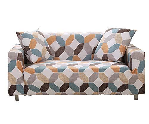 Segle Housse de Canapé,Durable Matériel Elastique et Comfortable,pour canapé 1, 2, 3 ou 4 Places Couverture de canapé,3 Places:190-230CM,#7