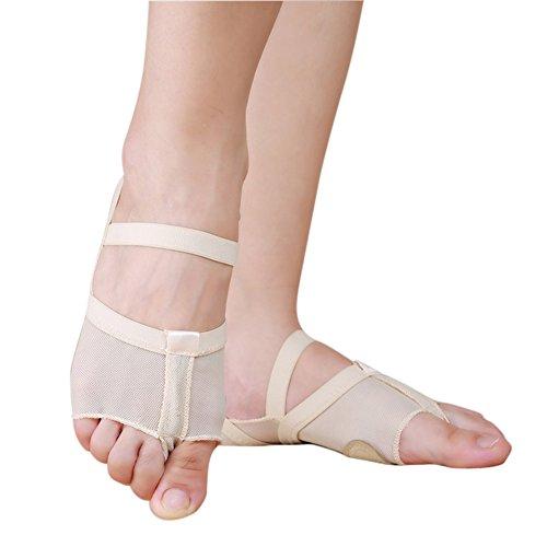 allett Tanz Zehenspitze Praxis Schuhe Fuß Schutz Socken Kostüm Gamaschen(1 Paar), Hautfarbe (Tanz Kostüme Lyrischen)