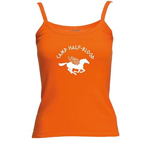 Preisvergleich Produktbild Camp Half-Blood, Spagetti Traeger Top - Orange S ( UK Größe 10 )