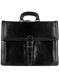 Hecho en Italia maletín de piel Unisex bolso al hombro bolso portátil A4 39 x 28 x 15 cm DIN (ancho x alto x fondo)