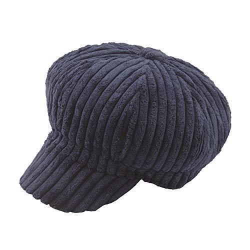 Cebbay Chapeau Homme Bonnet,Chaud Casquette Chic Baggy Chapeaux Doux Velours côtelé octogonal Headwear Béret,Hiver Turban Beanie Hats Cap Liquidation