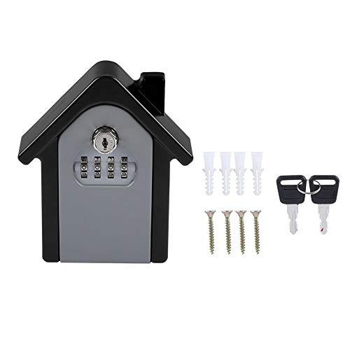 BTIHCEUOT Schlüsselspeicher-Schließfach, 4-stelliges Kombinationsschlossfach, wandmontiertes Schließfach, rücksetzbarer Code-Speicher-Schließfachkasten -