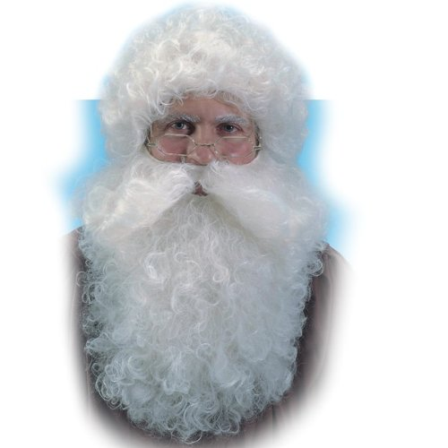 Nikolaus Perücke + Bart Set Weihnachtsmann Santa Claus Zubehör ()