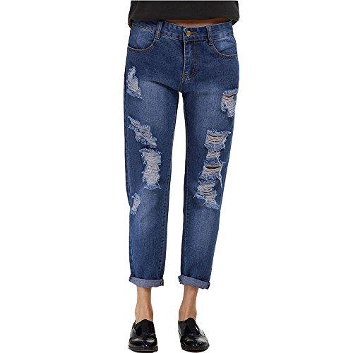 ZXQZ Frauen Jeans Harlan Stretch Hosen mittlere Taille dünne Hosen Jeans ( größe : M ) Einfache Geist Schuhe Für Frauen