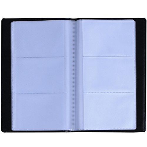 Zacro Visitenkartenmappe für 144 Karten Ideal für Büro und Praxis Visitenkartenbuch Visitenkarten Kreditkarten schwarz
