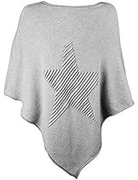 670909dcad2e Glamexx24 Mesdames élégant Poncho tricoté chandail ...
