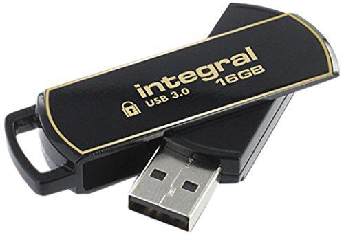 Secure Lock Usb (Integral Memory INFD16GB360SEC3.0 USB 3.0-Stick mit SecureLock Software schwarz/gold)