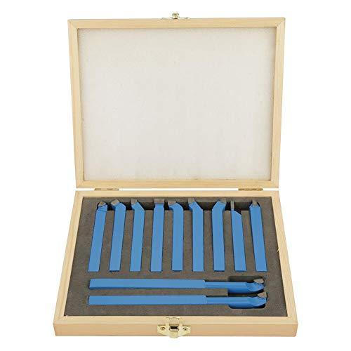 Cocoarm Drehmeissel Set Drehstahl Satz 11 Stücke Drehmaschine Werkzeuge Hartmetall Drehen Werkzeug Set (8 × 8 mm)