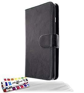 """Etui à Rabat APPLE IPHONE 6 PLUS 5.5 POUCES [Le Folio Premium] [Noir] de MUZZANO + 3 Films de protection écran """"UltraClear"""" + STYLET et CHIFFON MUZZANO® OFFERTS - La Protection Antichoc ULTIME, ELEGANTE ET DURABLE pour votre APPLE IPHONE 6 PLUS 5.5 POUCES"""