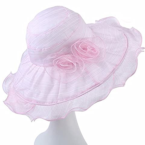 PLKOI Hats Ms. Summer Sun Visor Foldable Mesh Sun Hats The Tour Cooler Cap,Pink