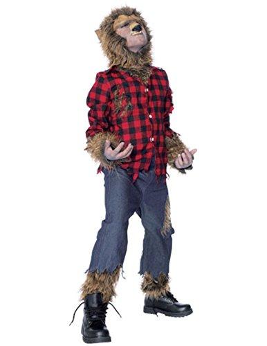 stüm Kinder Karneval Fasching Verkleidung Large (Wolfman Kostüme Kinder)