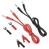 Kit de cables de prueba Cable Banana a Banana Cable de prueba, 6 en 1 Parte Banana a Crocodile Alligator Clip Cable de cable de la sonda de prueba, 6 mm P1041B Cable Banana