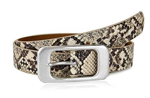 Fuchsia Snake (irisaa Damen Gürtel mit silberner Schnalle | Jeansgürtel in klassischen Design, 2.8 cm breit und 0.3 cm stark, Länge:90, Farbe 883:Snake Khaki)