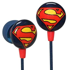 iHip DC Comics Superman Logo Printed Ear Buds
