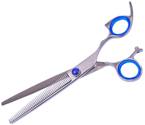 sharkfin-platinum-line-non-swivel-blue-right-handed-pet-grooming-texturizer-straight-blade-50-tooth-