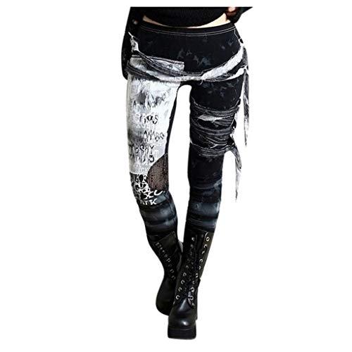 Halloween Vestido Mujer,Pantalones Frescos Ultra Fruncidos para...