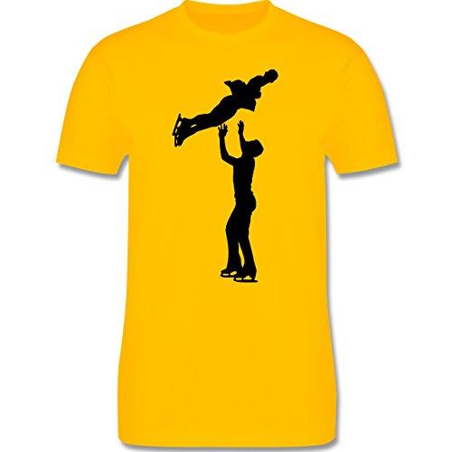 Wintersport - Eiskunstlauf Paarlaufen Eiskunstläufer - Herren Premium T-Shirt Gelb