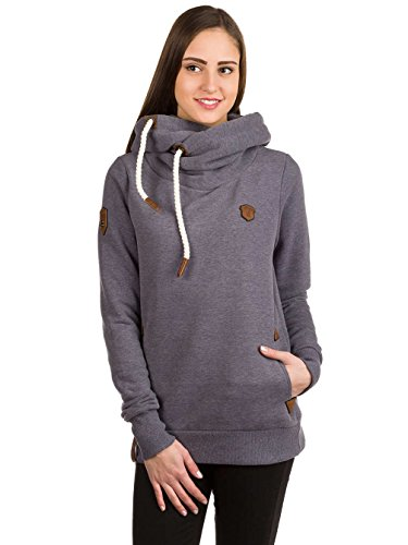 Naketano Damen Kapuzenpullover , Scarface Melange, Medium