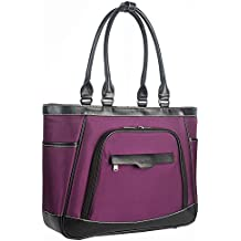 Coolbell bolso, bolso de mano extraíble de las mujeres bolsa de hombro portátil de 15,6con compartimento para portátil ocio deporte para mujer maletín con funcional bolsillos morado morado 15,6 pulgadas