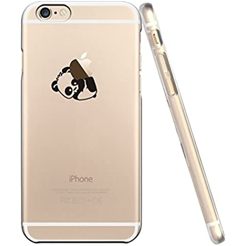 Cover iPhone 6, Custodia iPhone 6S, UCMDA Silicone Trasparente Morbida Clear Gel Caso, Ultra Slim Antiurto Anti-Graffio Bumper Case con Disegni - Panda
