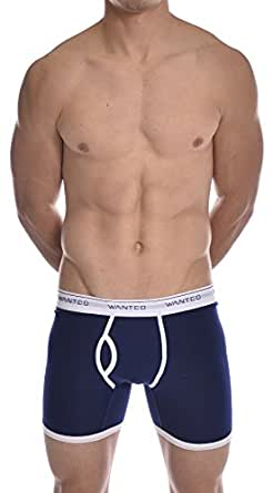 Mens New Stretch Boxer Brief Underwear Wanted Navy X-Large
