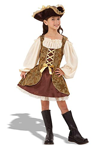 GIRLS GOLDEN HIGH SEAS PIRATE FANCY DRESS COSTUME (Mädchen Kostüme Piraten Ideen)