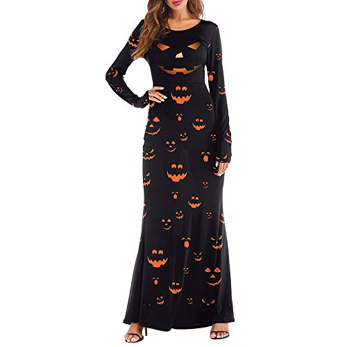 Berrose-Kleider Damen Mini Cocktailkleid Abendkleid Sommerkleider Spitzenkleid Frauen Ballkleid Verein Mädchen Halloween Kostüm Festlich, Lässig Gedruckt Lang Ärmel Knöchellänge Partykleid
