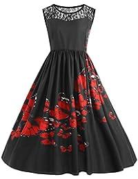 Vestidos de Fiesta para Bodas Tallas Grandes, LILICAT® Vestido de la Impresión de la