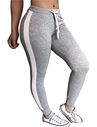 Yying Damen Hohe Taille Hosen Mode Gestreift Slim Fit Jogginghose mit  Kordelzug Elastischer Taille Casual Jogging 129fcc5ab8