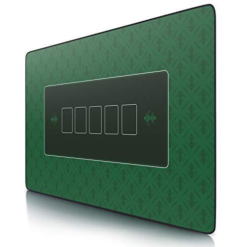 CSL - XXL Deluxe Pokerrmatte 1000x600mm - XXL Poker Unterlage Pokertisch mit Motiv - Tischunterlage Large Size - Pokertischauflage Green