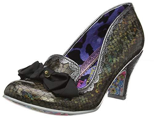 IRRA4|#Irregular Choice Kanjanka, Zapatos de tacón con Punta Cerrada para Mujer, Black Ash, 6.5 EU