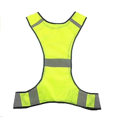 Janlyy Reflective Safety Vest Hi Vis Vest High Visibility Security Clothing Running Gear Lightweight Bright Reflective Vest Cycling Safety Vest for Running Cycling Walking Jogging Biking Motorcycling Dog Walking Yellow Orange (Yellow)