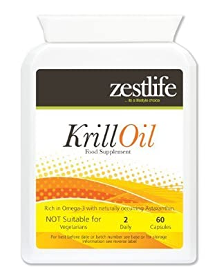 Zestlife SUPERBA KRILL 500mg 60 - SuperbaTM Easy to swallow soft gel capsules | Sustainably Fished by Aker BioMarine | Reduces chronic inflammation associated with osteoarthritis. by Zestlife