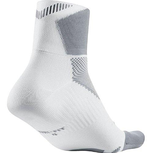 Nike One-Quarter Socks Elite Run Lightweight Weiß/Wolfgrau